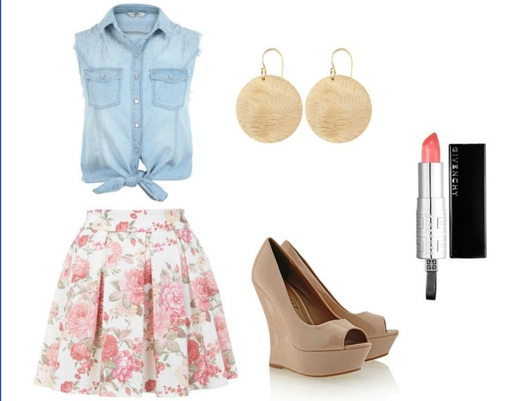 Stylish Floral Print Skirt Outfit