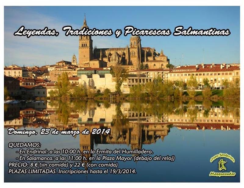 """23/Marzo: Ruta urbana """"Leyendas. Tradiciones y Picarescas de Salamanca"""". Endrinal, Endrinal, Excursión"""