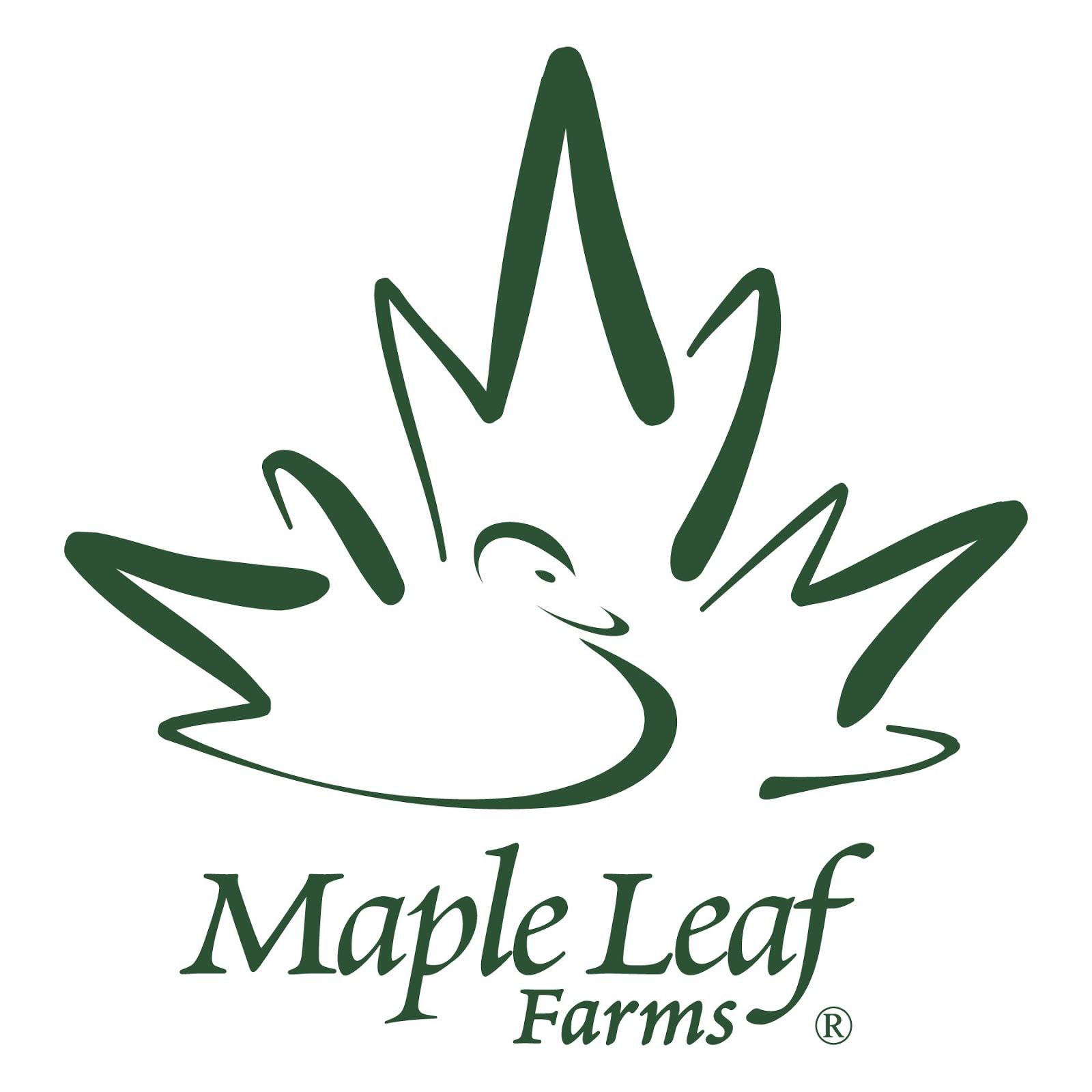 Maple Leaf Farms Logo From Maple Leaf Farms Duck