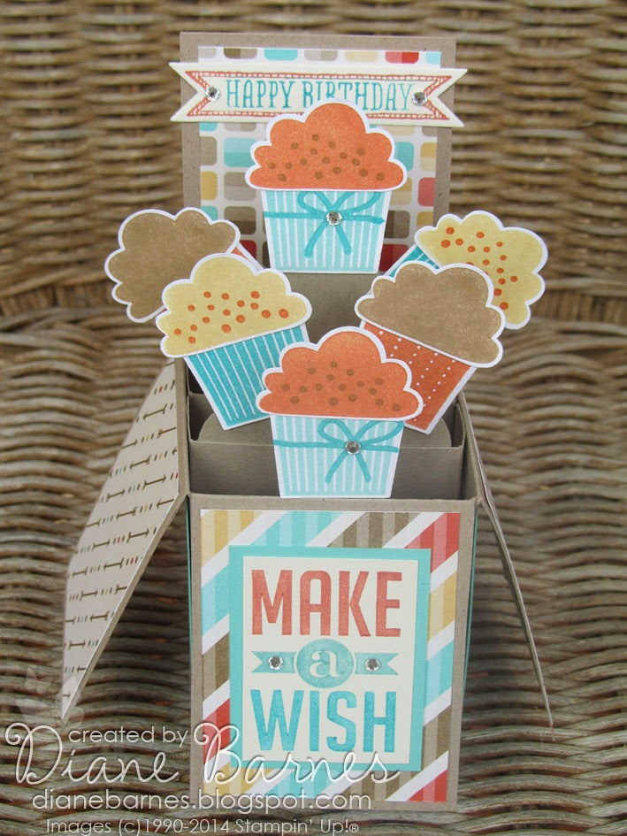 Colour me happy cupcake pop up card in a box with template this pronofoot35fo Choice Image