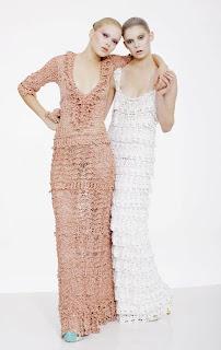 Платье узором волна крючком с описанием