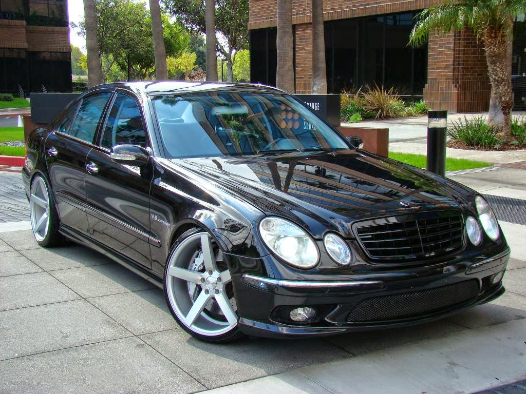 Mercedes benz w211 e55 amg on 20inch vossen wheels for Mercedes benz wheels rims