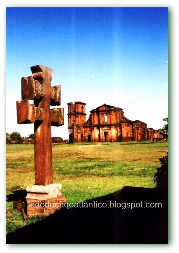 Imagem das ruínas da Missão Jesuíta de São Miguel Arcanjo, São Miguel, RS/Brasil