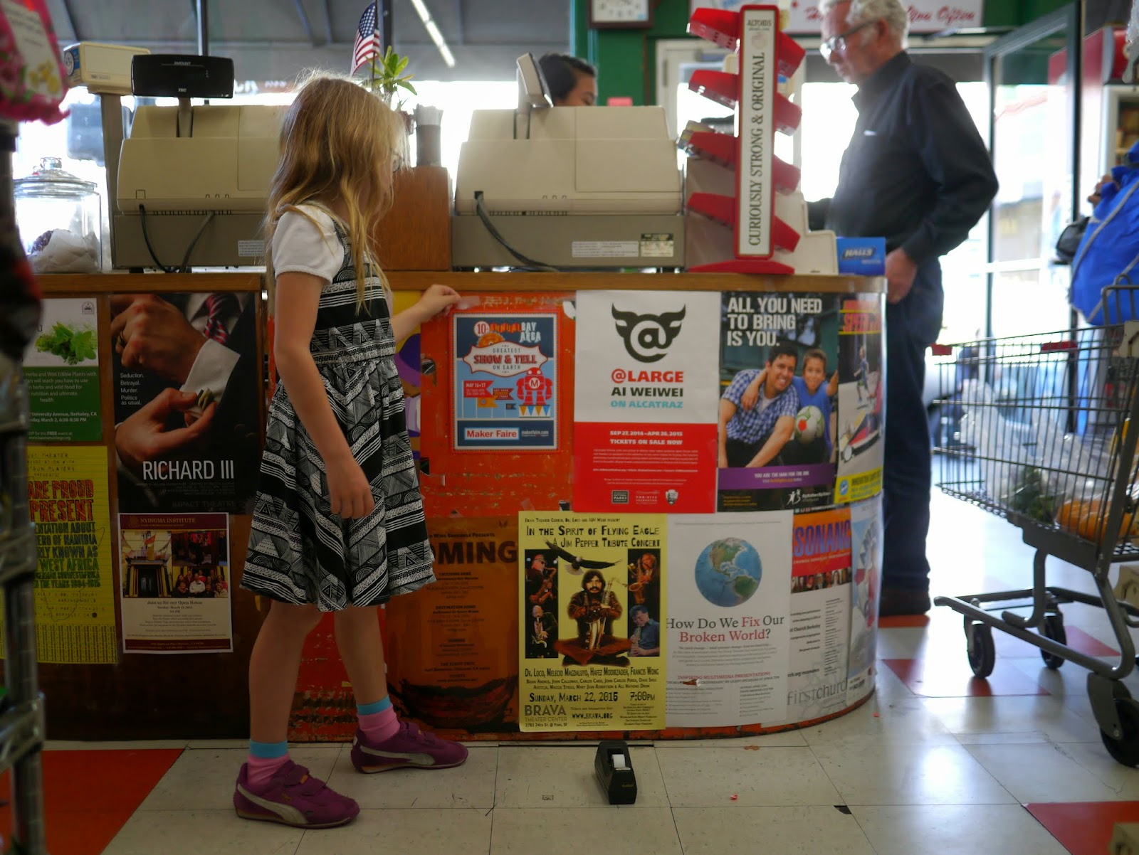 hereu0027s a look at the girls out and about all over berkeley putting up their flyers and postcards over the last few days