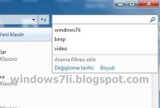 arama kutusu, windows 7 arama kutusu, windows gezgini arama,