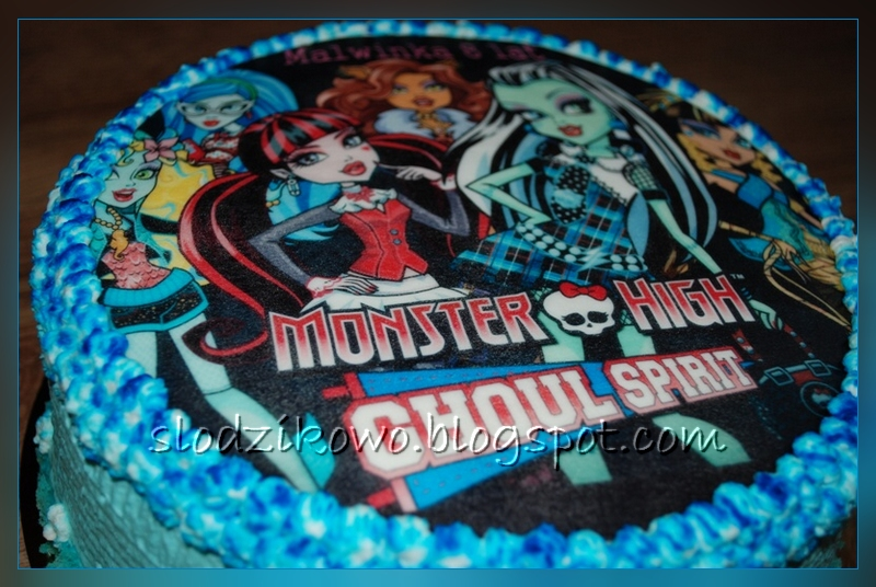 Sodzikowo Tort Z Opatkiem Jadalnym Monster High