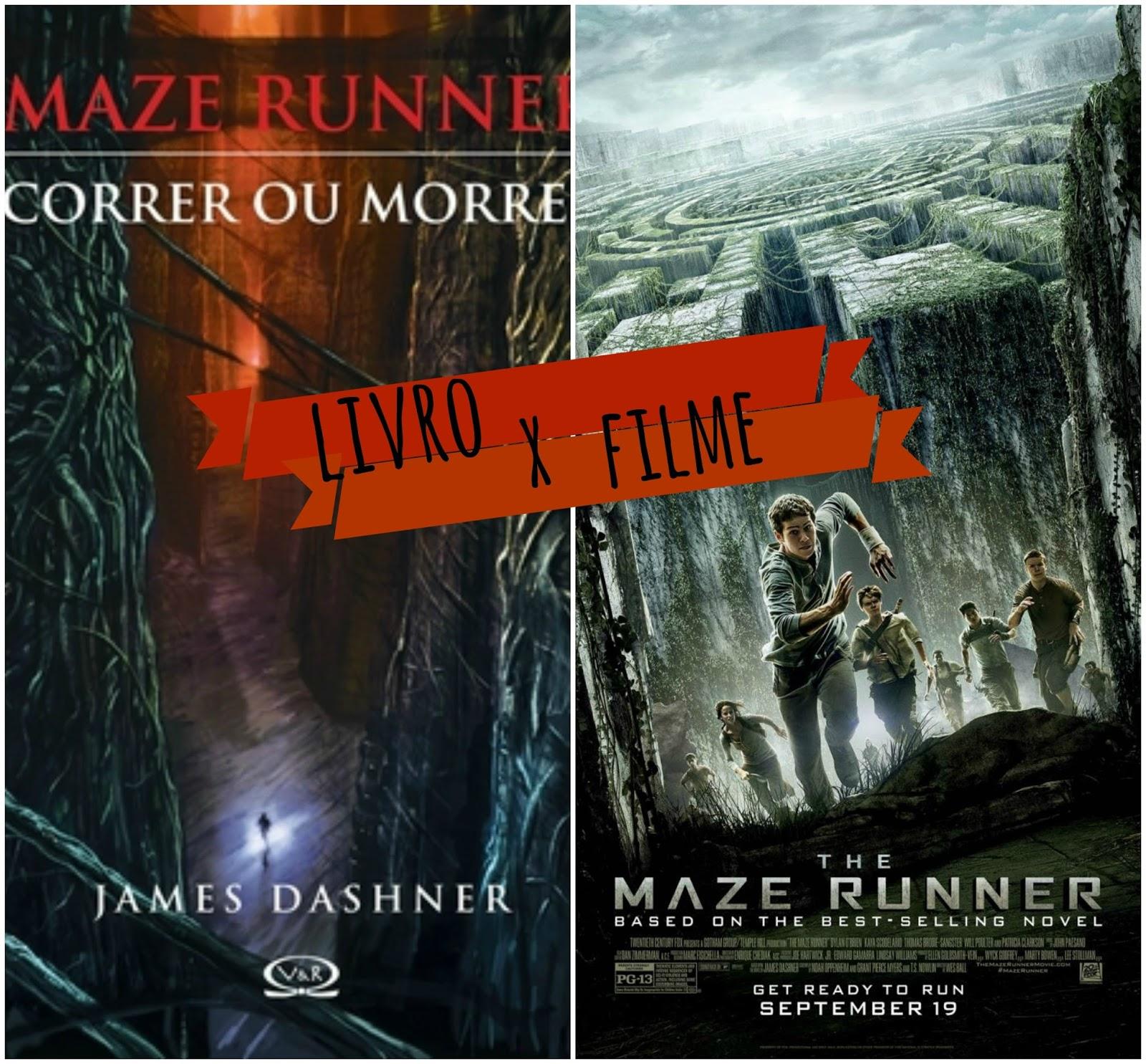 Livro x filme maze runner correr ou morrer