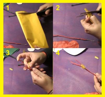 Como hacer flor de papel de seda