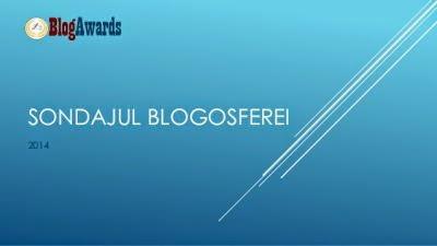 Sondajul Blogosferei 2014