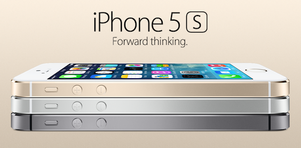 iPhone 5s rich gold, silver white, jet black color