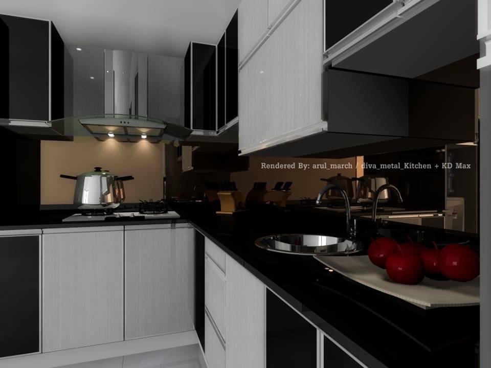 Kitchen aluminium kitchen set surabaya for Kitchen set surabaya