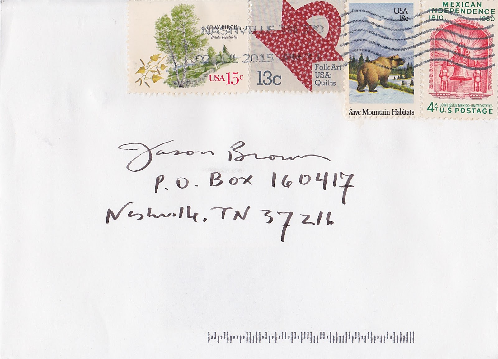 Letter To Me : A Mail Art Project: Page 24 : Jim Sherraden (USA