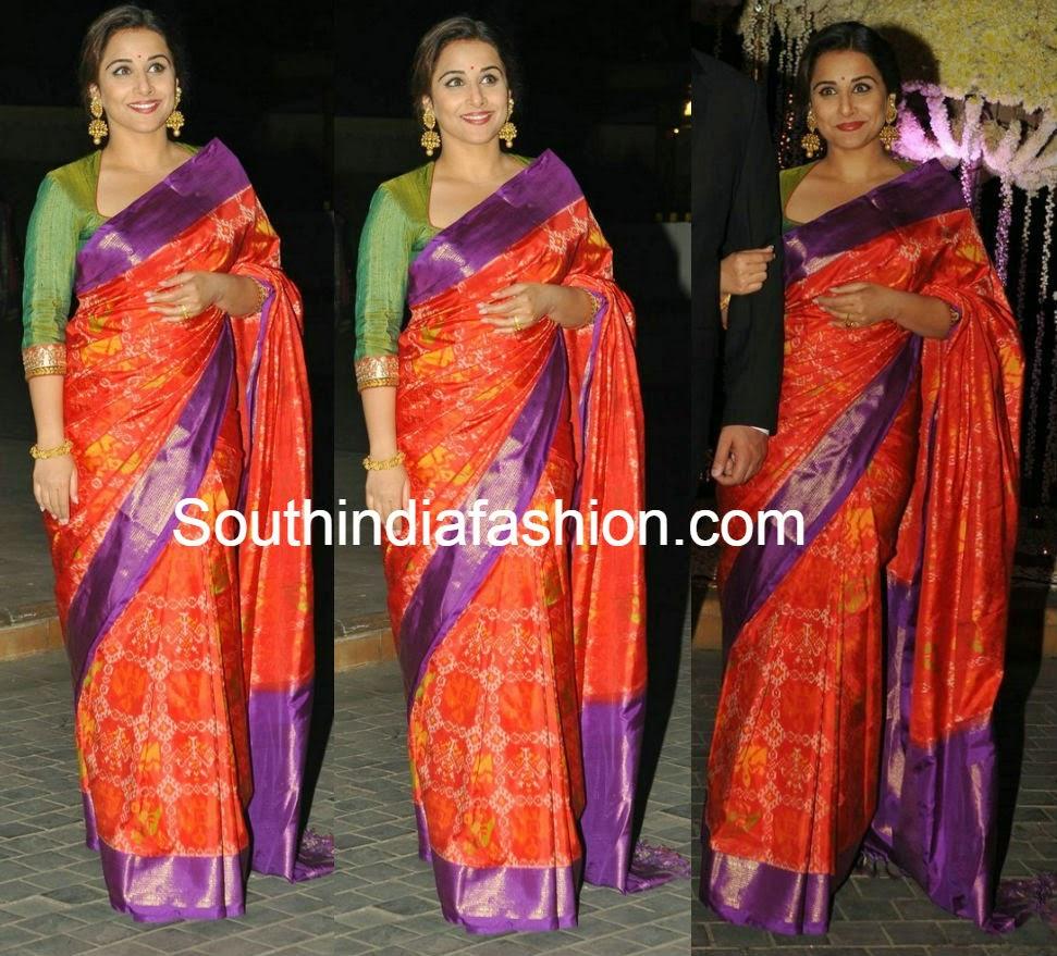 vidya balan silk sarees