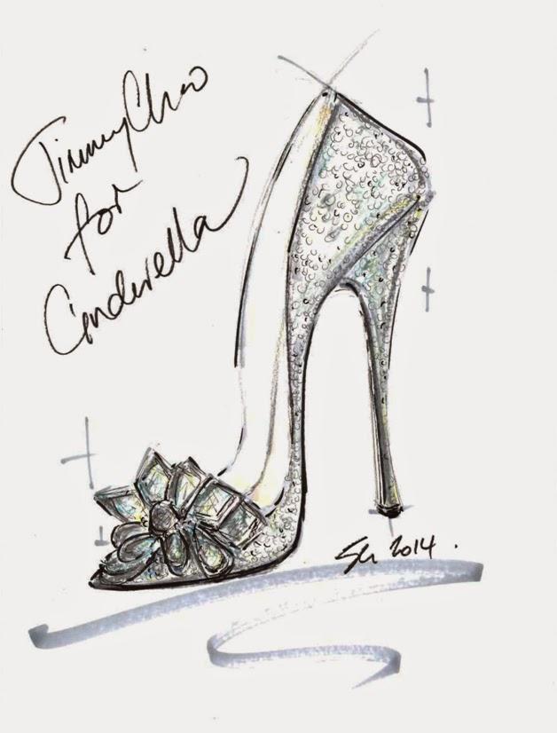 Jimmy Choo Cinderella Glass Slipper Sketch