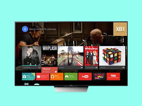 Smart TV Sony com resolução 4K e sistema Android