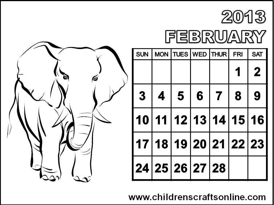 February Free Coloring Pages February Coloring Page