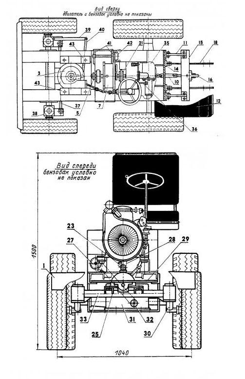 электросхема мотоблока зирка