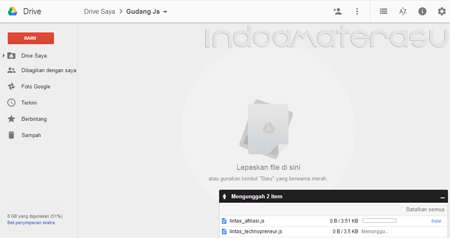 Upload File JavaScript di Google Drive 2