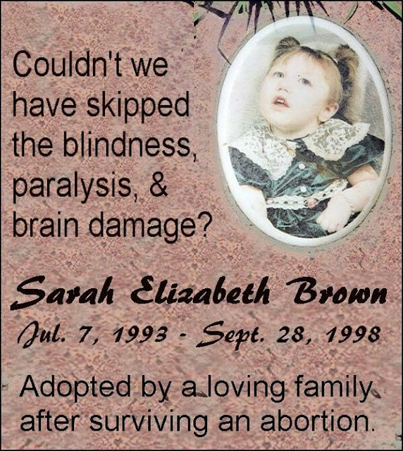 SARAH LA BEBE QUE MURIO TRAS UN ABORTO DE 5 AÑOS