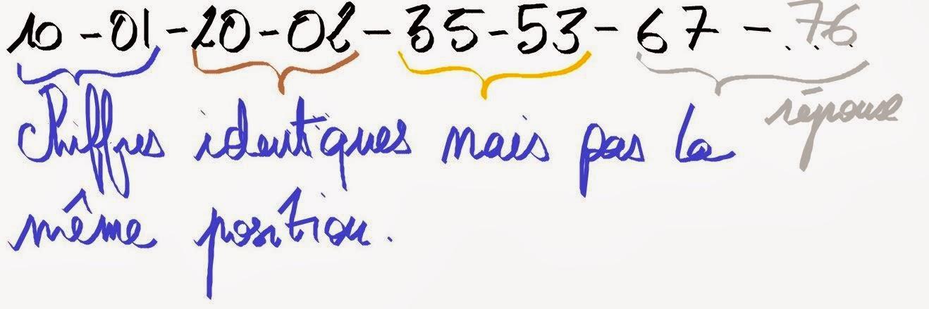 Les cl s de la logique les s ries de nombres ou les for Connaitre ses tables de multiplication
