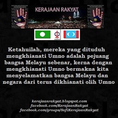 Umno Pengkhianat agama bangsa negara