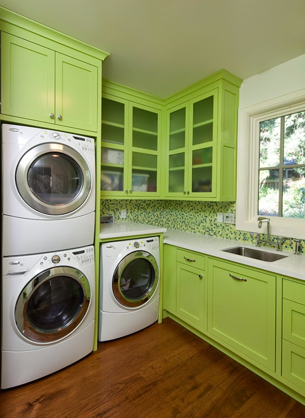 green laundry room design ideas and pictures
