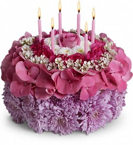 I Love This Fun Birthday Cake Made Completely From Fresh Flowers