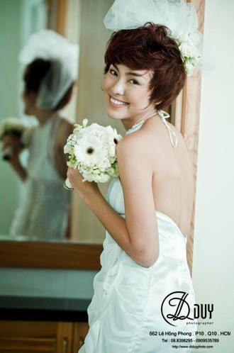 cách tạo kiểu cho cô dâu tóc ngắn