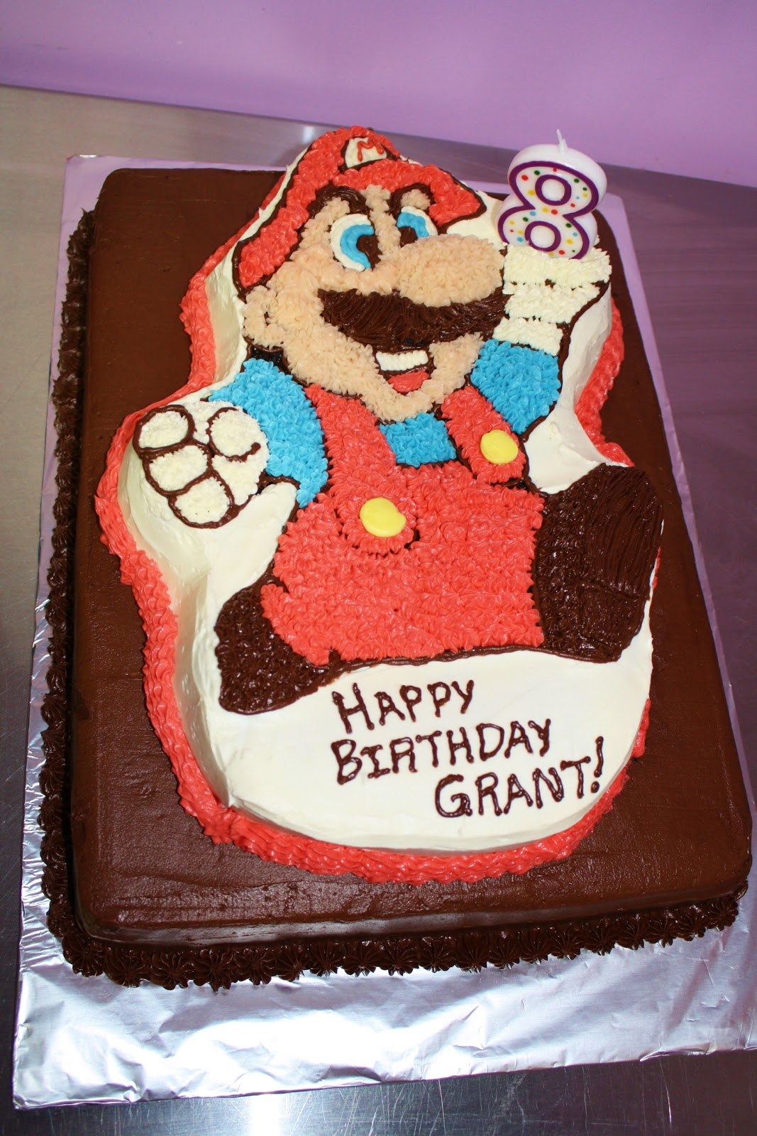 Burn Me Not Mario Bros Chocolate Cake