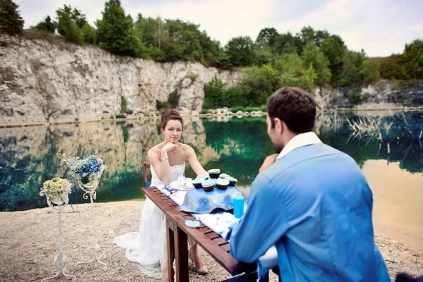Niebieski jako kolor przewodni ślubu i wesela