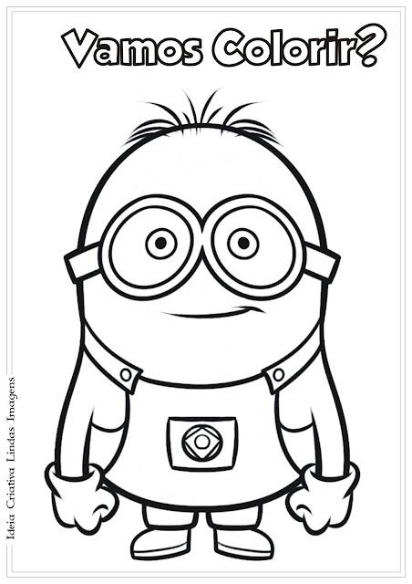 Desenho Minion feliz Meu Malvado Favorito para colorir