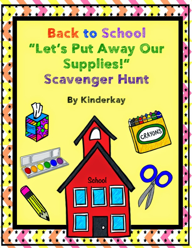 http://www.teacherspayteachers.com/Product/Back-To-School-Lets-Put-Away-Our-Supplies-Scavenger-Hunt-288004