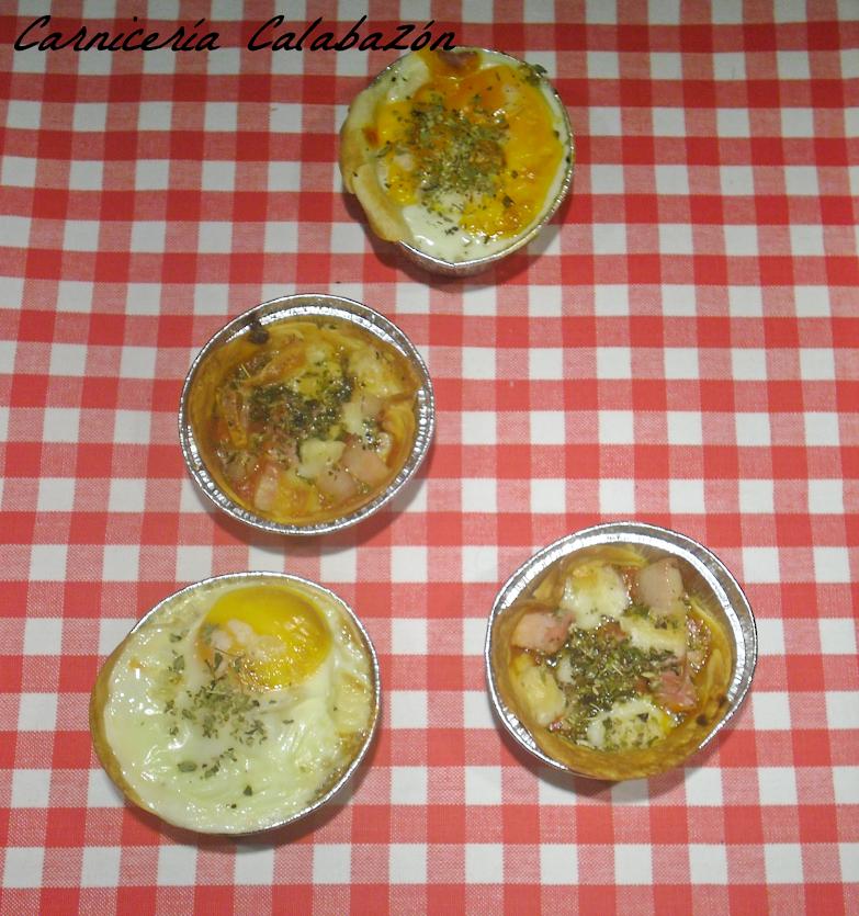 Mini pizzas en tartaleta de Carnicería Calabazón