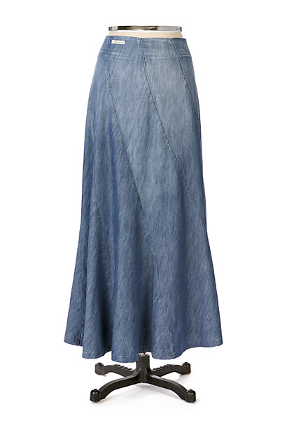 Anthropologie Denim Twist Skirt