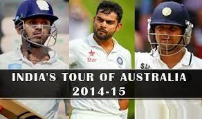 India vs Australia test series 2014