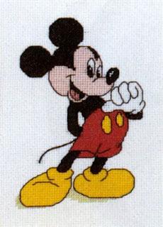 Gráfico para bordado do Mickey