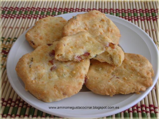 Galletas de queso y bacon