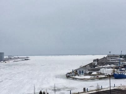 Everything is Socked in by Winter....Like Oswego Harbor