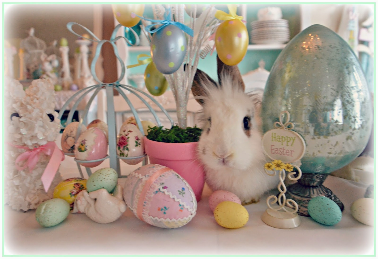 Easter Decor Meet Frankie A New Friend For Little Bunny Fufu