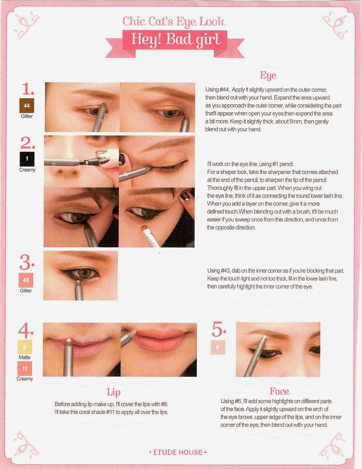 Rachel etude house june pink box this photo may also be useful for you to keep in case you ever decide to buy the pencils and achieve this look its a great easy tutorial baditri Gallery