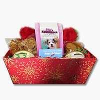 Life's Abundance dog gift basket