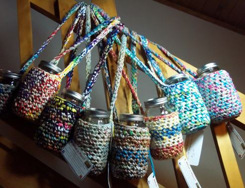 Water Bottle Bag Made From Plarn