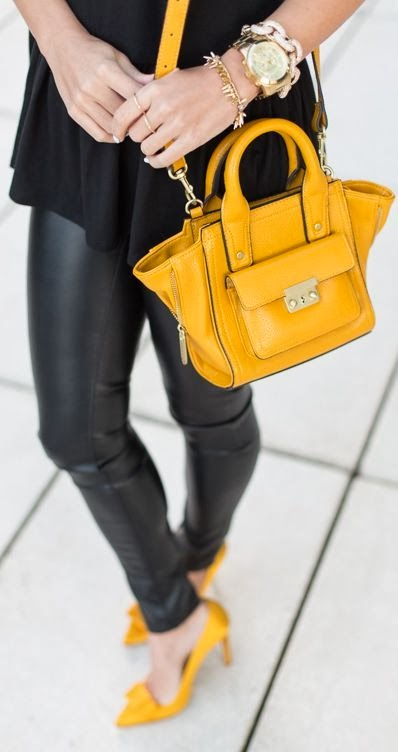Yellow Belt Handbag