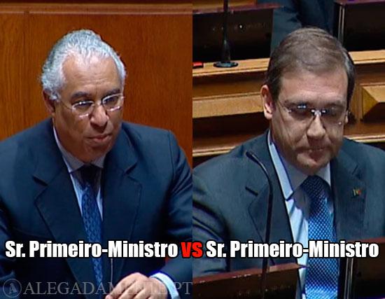 Imagens de António Costa e Passos Coelho – Senhor Primeiro-Ministro vs Senhor Primeiro-Ministro
