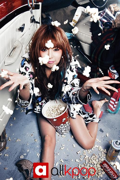 Hyuna Ice Cream Inkigayo