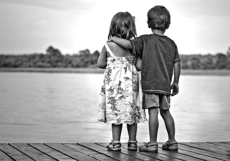 Little Boy and Girl Best Friend Quotes Picture