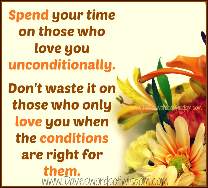 Love Those Who Love You Unconditionally