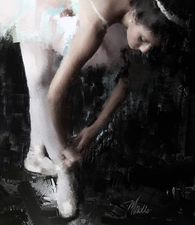 The Ballerina painting 3