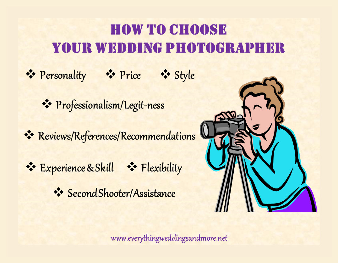 how to choose your wedding photographer from a