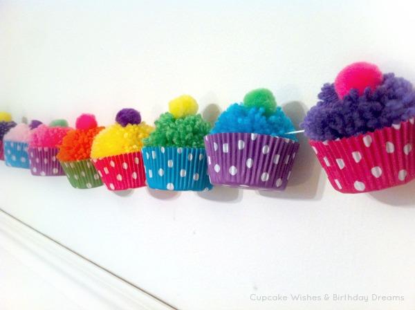cupcake wishes birthday dreams cupcake monday yarn pom pom